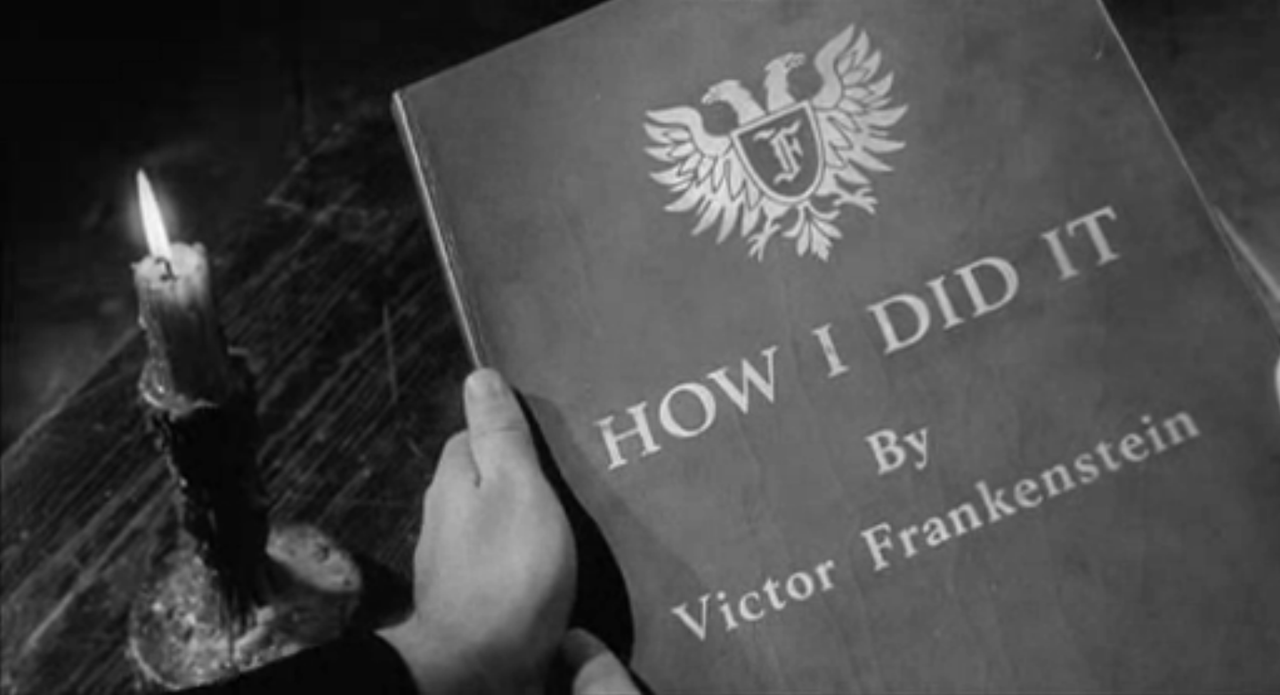 """Fictitious book entitled """"How I Did It by Victor Frankenstein"""""""